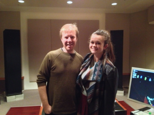 Demi Louise with Adam Dempsey at Deluxe Mastering Melbourne