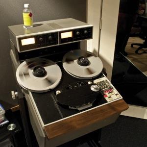 Deluxe Mastering's Ampex ATR machine